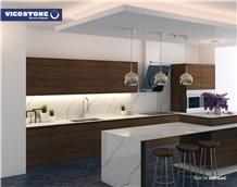 Quartz Kitchen Countertop Vicostone Bq8738 Greylac