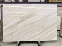 Elegant White Veins Marble Slab for Decoration