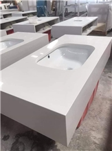 Engineered Quartz Vanity Tops for Hotel Projects