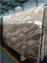 Gold Silk Granite Slab in Stock