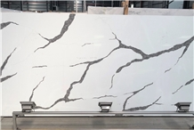 New White Calacatta Quartz Stone Slab