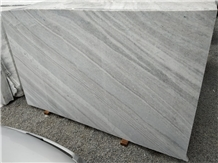 White with Brown Lines Marble Slabs
