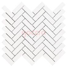 Herringbone 1x3 Mosaic Bianco Dolomite Marble