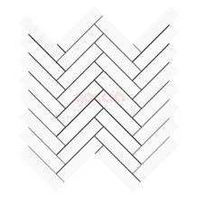 Herringbone 1x4 Mosaic Bianco Dolomite Marble