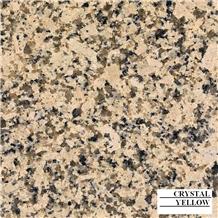Crystal Yellow Granite Slabs, India Yellow Granite