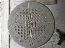 Hand Caved Portland Stone Compass with Poem