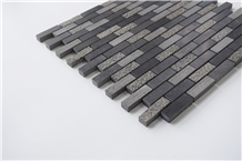 China Black Basalt Z Liner Strip Mosaic Pattern Wall Tiles