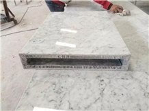 Carrara White Marble Honeycomb Composite Panel