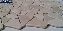 Beige Marble Mosaics Floor/Wall/Backsplash Tumbled