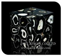 Backlit Black Agate Translucent Luxury Gemstone