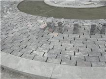 Dark Spanish Limestone Cobblestone, Pavers