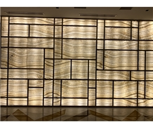 Wood White Onyx Translucent Lightweight Wall Panel