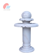 Cheap White Marble Ball Water Fountain