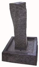 Dark Grey Granite Spiral Water Fountain