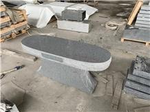 Light Gray G603 G633 Granite Polished Bench