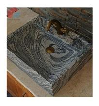 Sandwave Flower Granite Sink Corner Sink