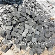 Natural Split Zhangpu Black Basalt Cobblestone