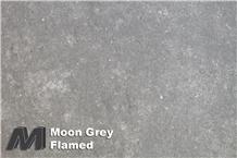 Moon Grey Limestone Flamed Tiles & Slabs