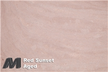 Red Sunset Aged Tiles & Slabs