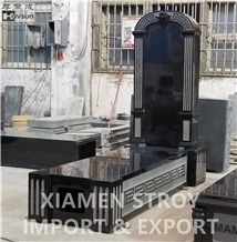 Diamond Design Monument Tombstone Gravestone Black