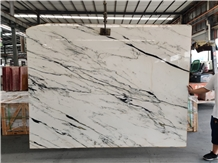 Blanc White Marble Bookmatch Slabs for Wall