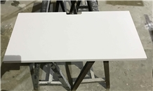 China White Quartz Nightstands Tops for Hotel Room
