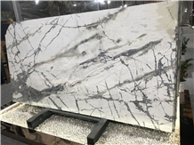 Lunar White Emerald Quartzite Slab for Wall Floor