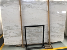 Polished White Rhino Marble Slab for Wall Covering