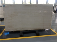 White Wood Vein Onyx Polished Slab for Wall Decor