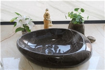 Coffee Mousse Marble Washbasin, Brown Marble Sink