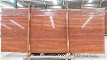 Arizona Rojo Red Travertine Polished Slabs &Blocks