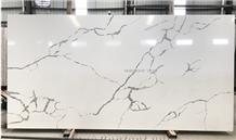 Calacatta White Quartz Slabs,Statuario Cararra