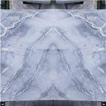 Chinese Grey Marble Blues Gray Fantasy Polish Slab