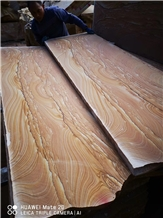 Chinese Yellow Sandstone Landscape Veins Pavings