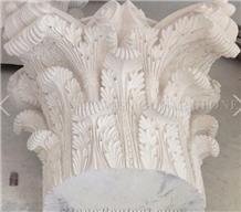 Moca Creme Limestone Porch Column Pillar Entrance