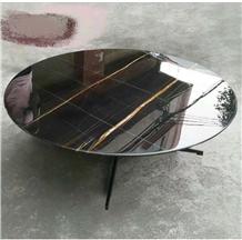 Nero St.Laurent Marble Black Sahara Table Top