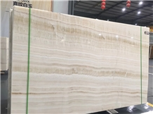 Pakistan White Wooden Onyx Slabs Tile