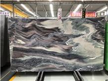 Purple Wave Kinawa Villet Marble Polished Slabs