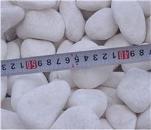 Snow White Pebble Stone for Decoration Walkway