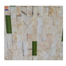 Golden Marble Strip Brick Mosaic Tiles for Wall