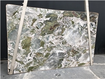 Jade Quartzite Slabs, Brazil Green Quartzite