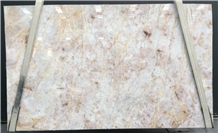 Quarzo Juliet Quartzite Slabs, Brazil White Quartzite