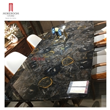 Modern Black Petrified Wood Furniture Dining Table