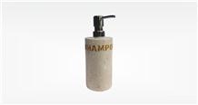 Marble Cream Shampoo Storage Premium, Bathroom Dispenser Bath Accessories
