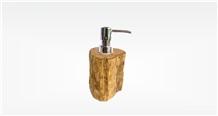 Petrified Wood Fossil Soap Dispenser Premium