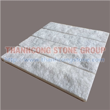 Pure White Marble Wall Cladding Split Stone