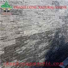 Silver Black Cladding Panels Cultured Stone