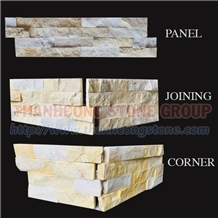 Viet Nam Yellow Marble Cultured Stone