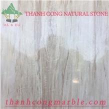 Wooden Vein White Marble Tiles
