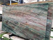 Alexandrita Green Emerald Green Quartzite Slabs